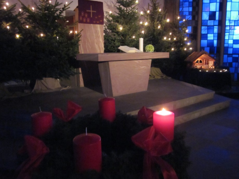 Advent Kerzen Stadtkirche